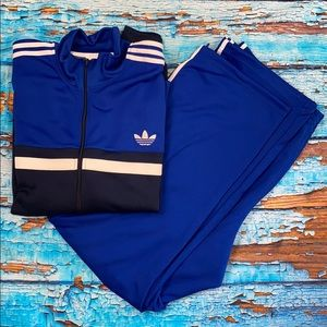 Adidas Two-Tone Blue Track Suit